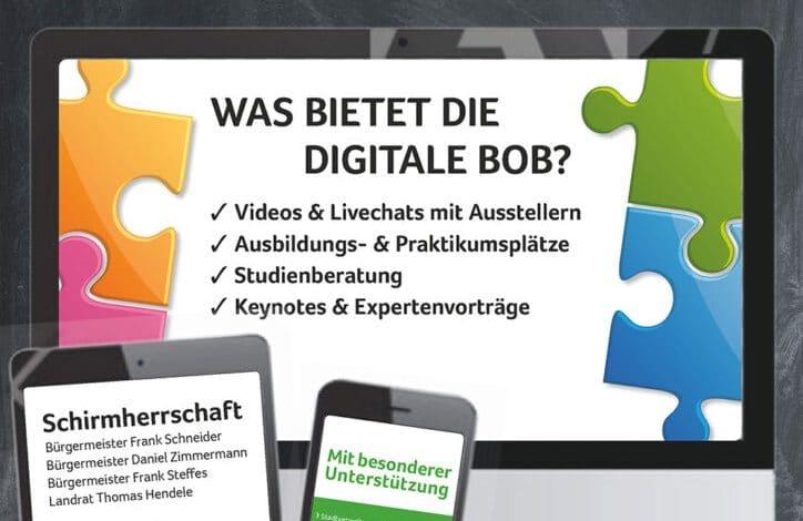 Berufsorientierungsbörse BOB2020 online – jetzt anmelden