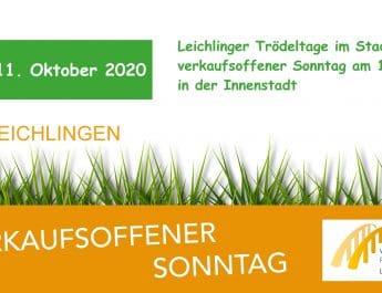 Verkaufsoffener Sonntag am 11.10.2020 zu den Leichlinger Trödeltagen