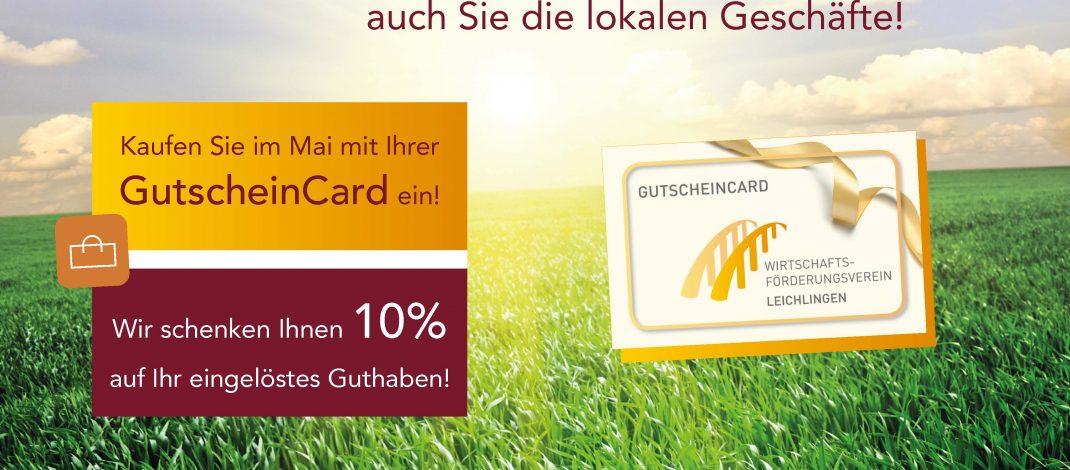 10% Rabatt bei Einkäufen mit der GutscheinCard