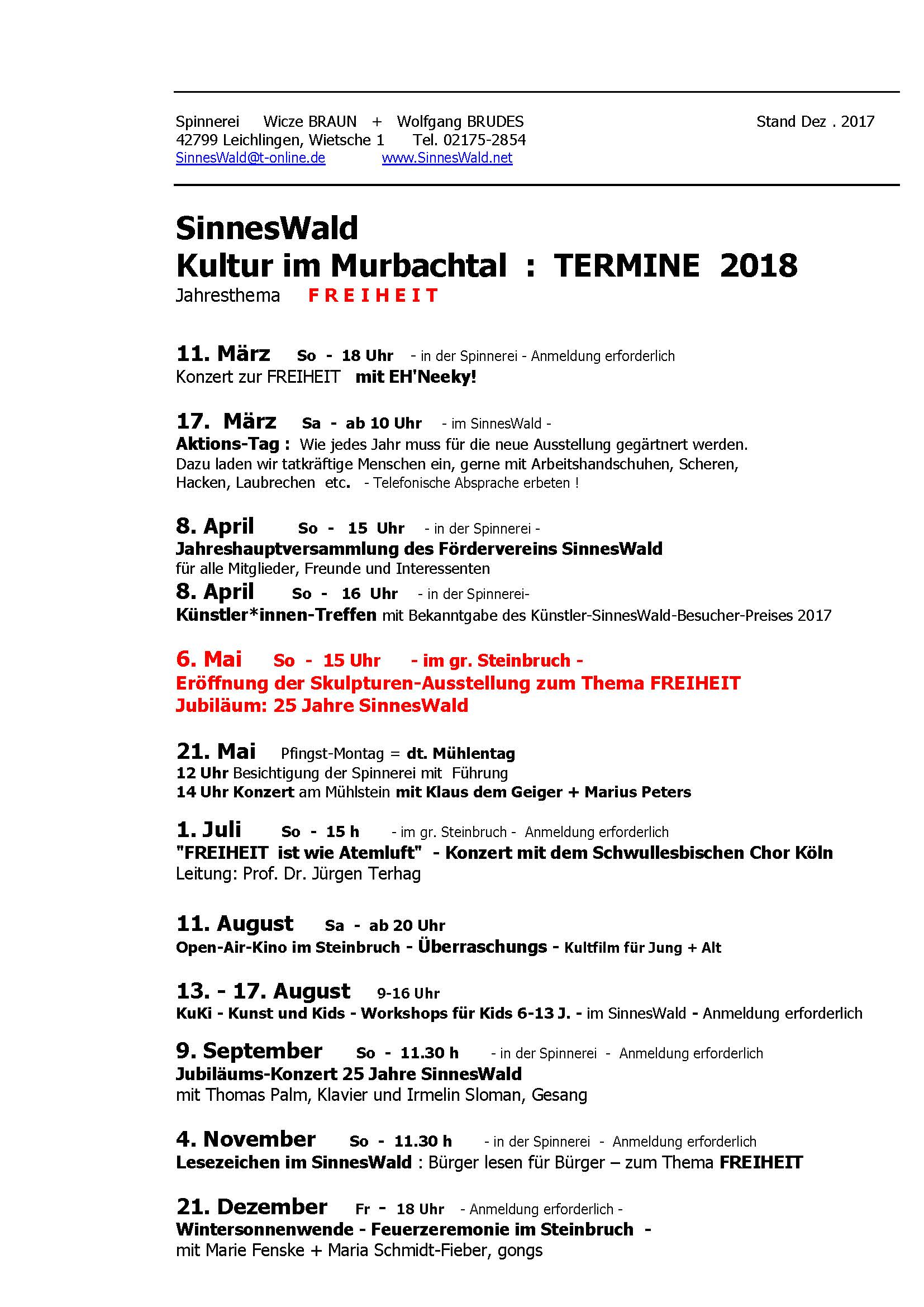 SinnesWald 2018